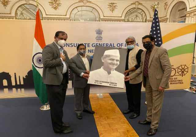 Portrait of Late Prime Minister of India Shri Lal Bahadur Shastri presented to Indian Consulate in New York