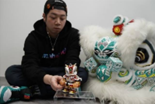 Wong Yin Foon, a young toy products designer creates robotic Chinese Lion mascot