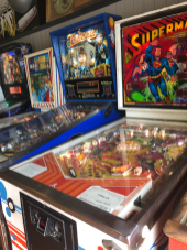 Pinball machines are among the many games guests can play in the arcade.