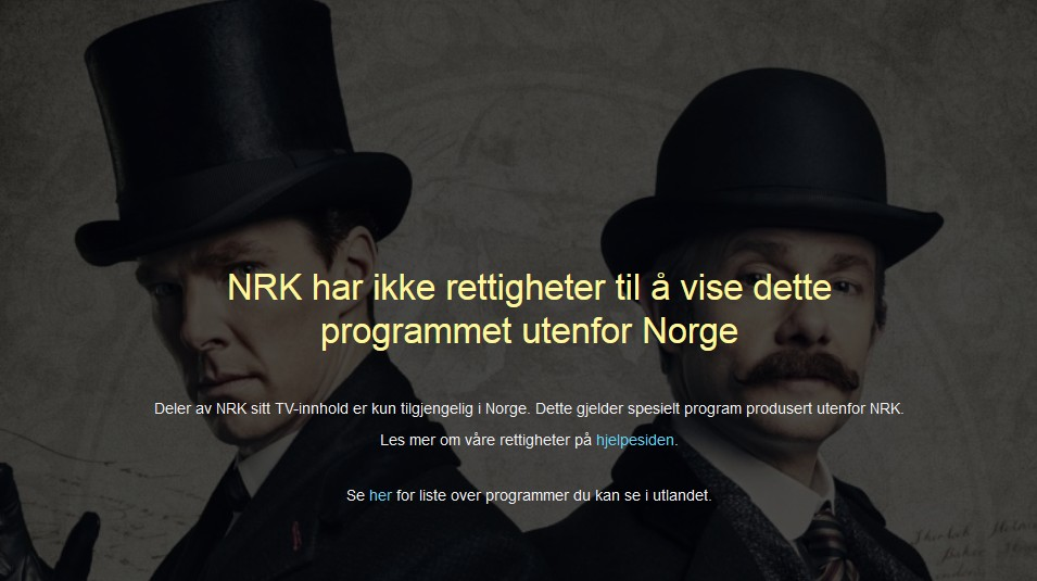Sherlock on NRK online