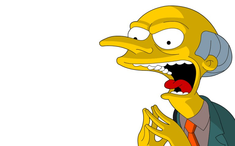 Se Mr. Burns kommentere valget