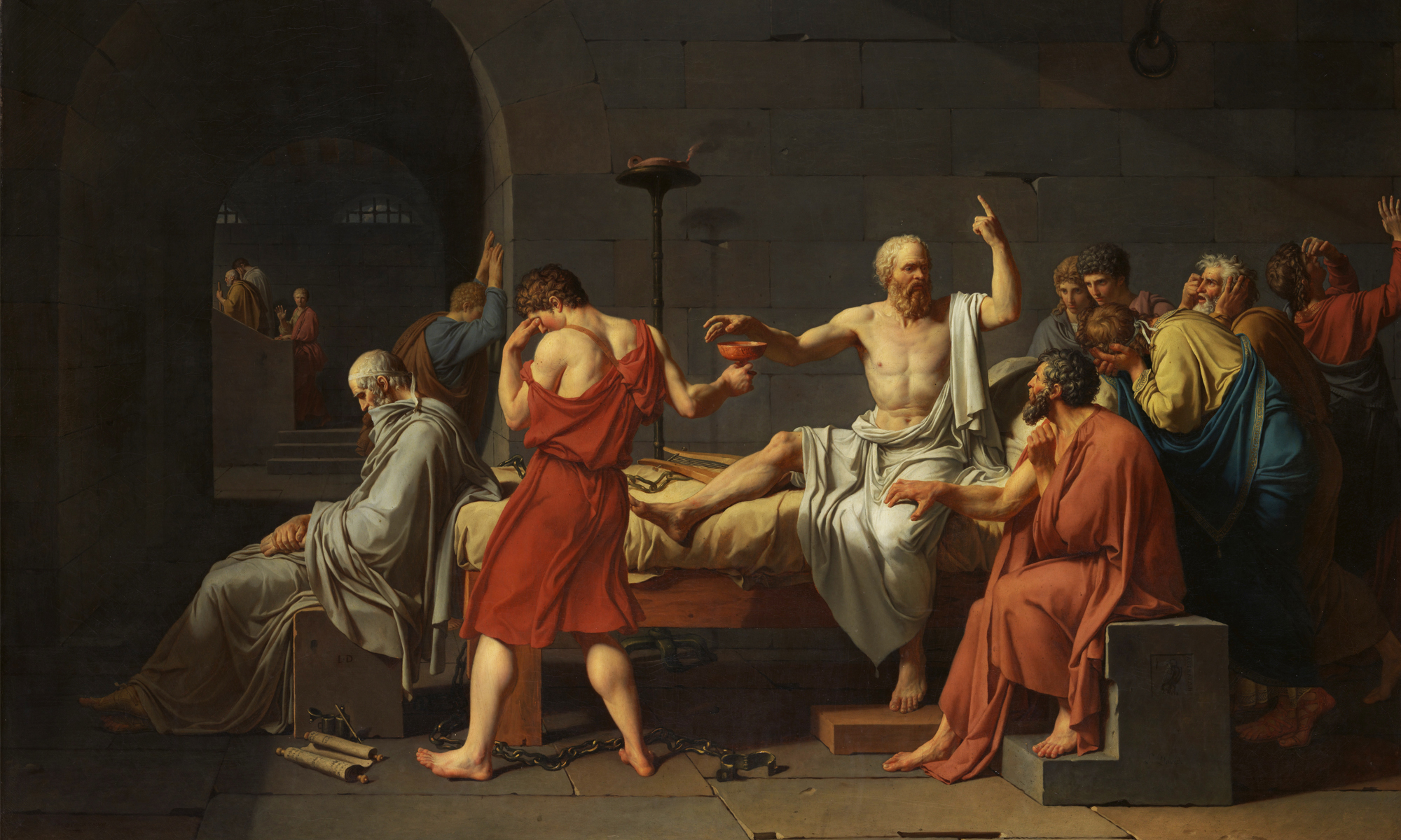 Art Critique: Famous Painting- The Death of Socrates by Jacques-Louis Daveed