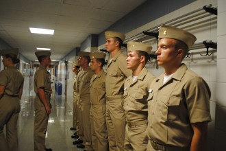 Khaki inspection at orientation