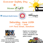 Summer Safety Event at the Stone Zoo: Saturday, June 25, 9:00 a.m. – Noon