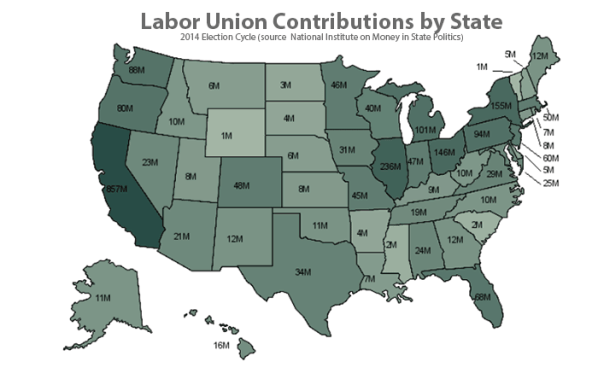 Labor-Union-Contributions-by-State