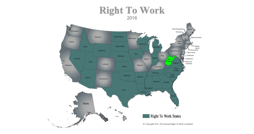 2016-Right-To-Work-States-MapWV-green