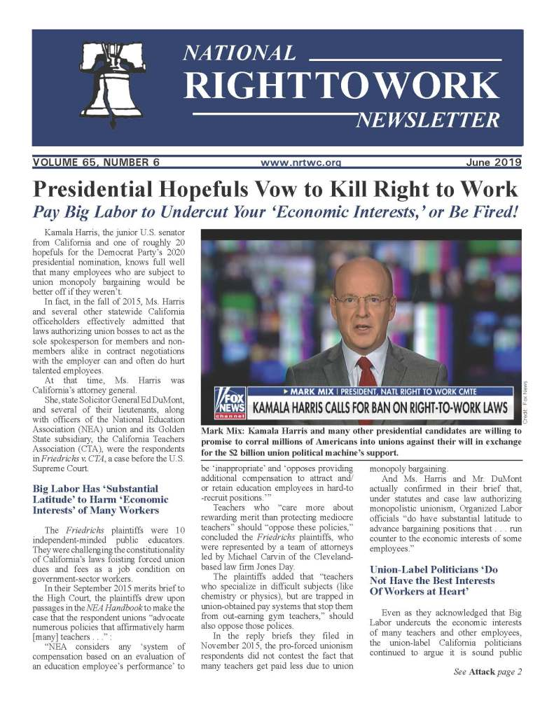 June 2019 National Right to Work Newsletter