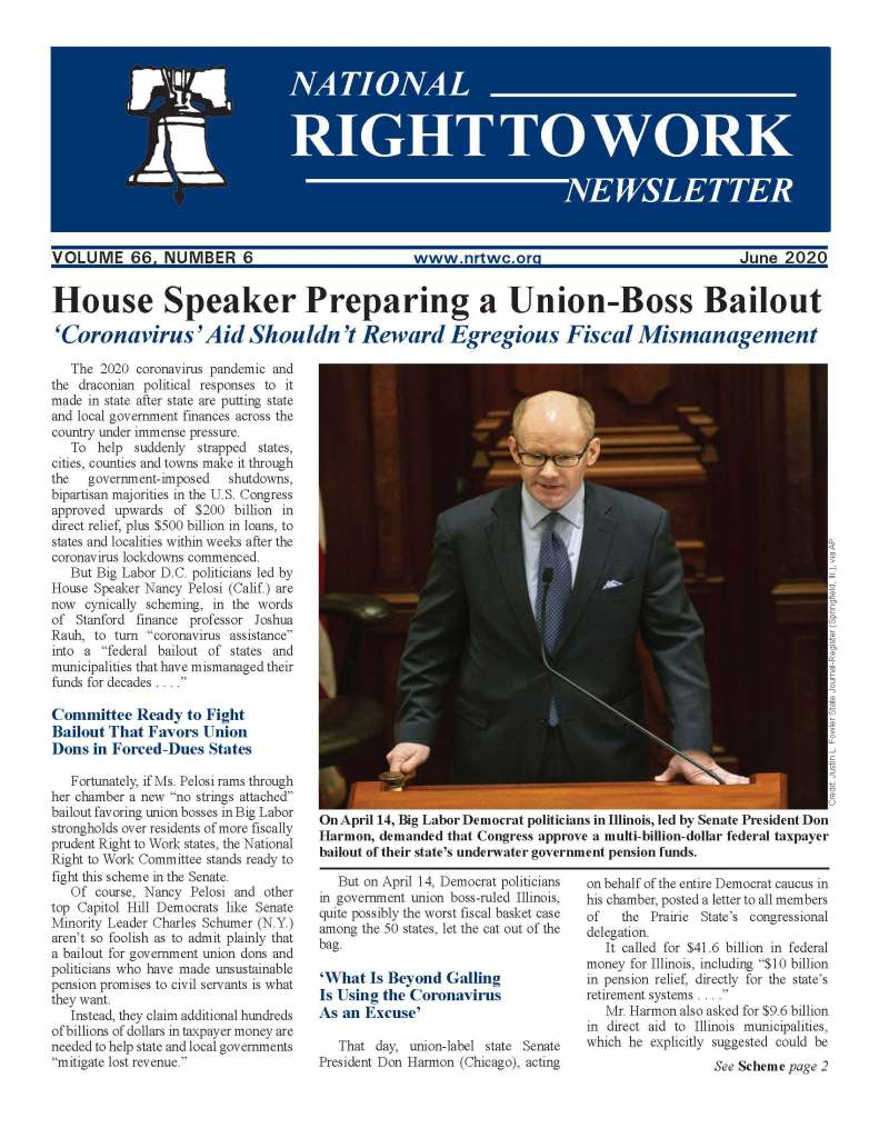 Jun e 2020 National Right to Work Newsletter