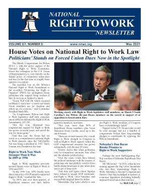 May 2021 National Right to Work Newsletter