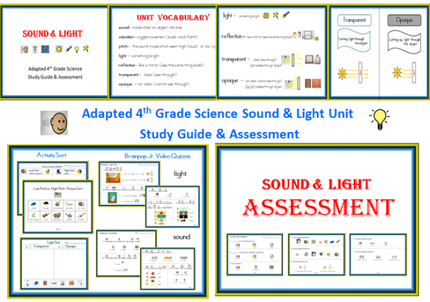 Light & Sound Energy Unit (Modified with Visual Supports