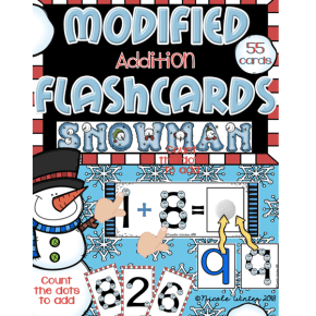 Winter Version – Modified Touch Math (Autism)