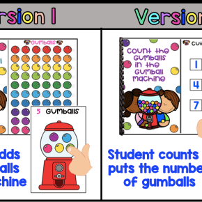 2 Version Gumball Interactive Counting Book 1-10 (Autism / SPED)