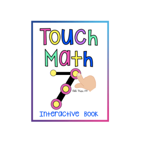 Interactive Touch Math Practice Book ( Autism / SPED)