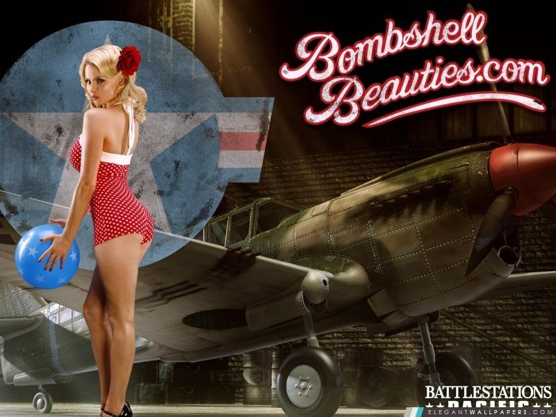 Sculpture Hd Wallpapers Battlestation Pacifique Bombshell Beauties Pin Up Fond D