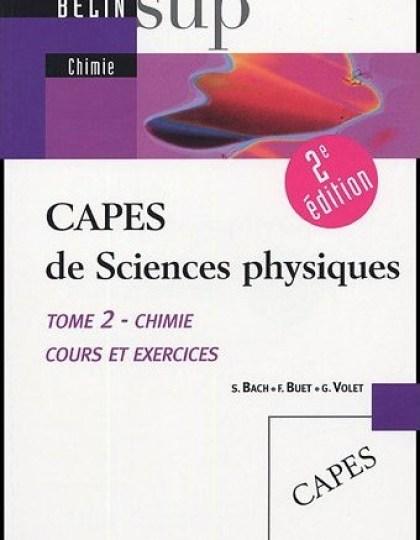 CAPES de Sciences physiques : Tome 2