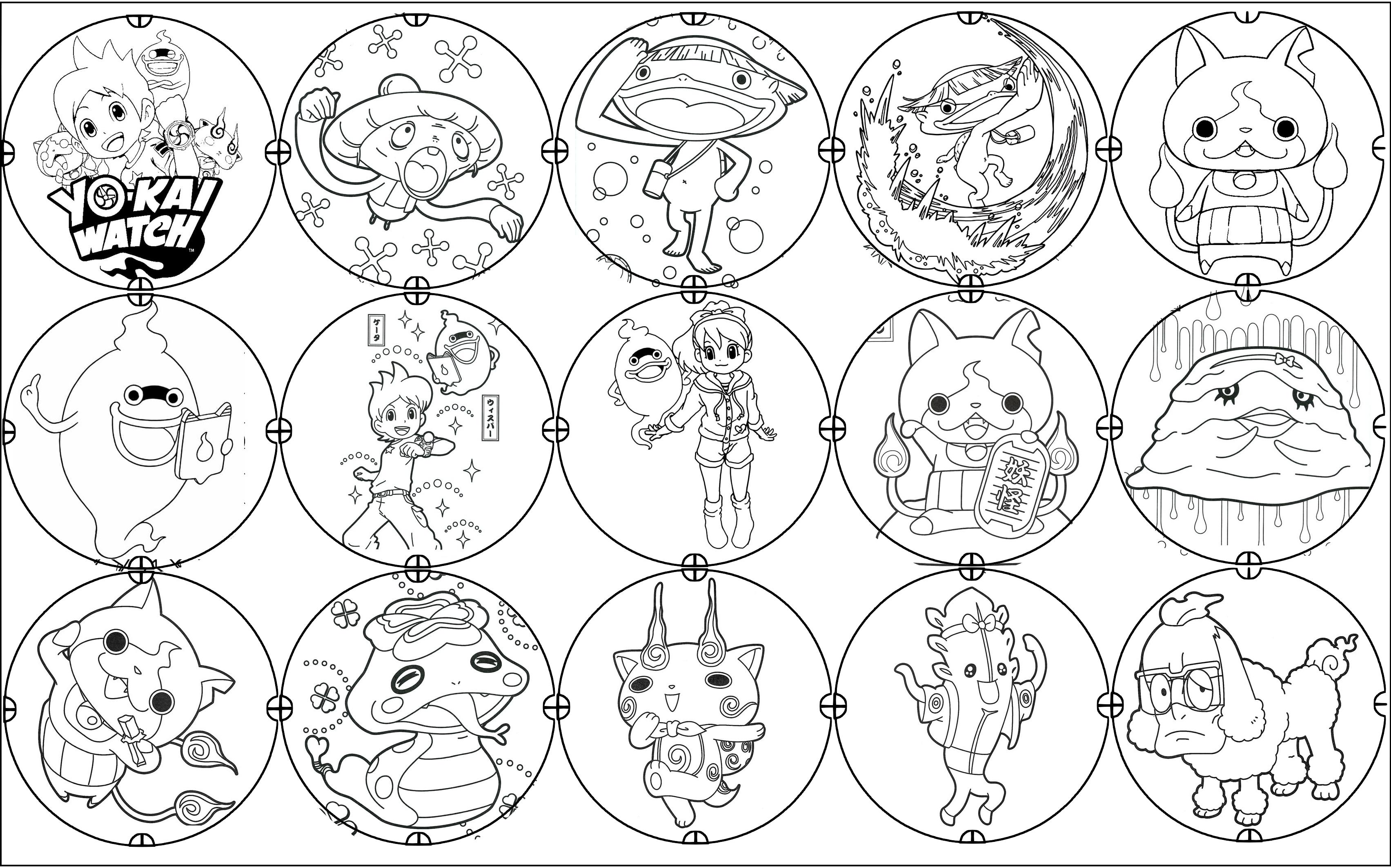 dessin à imprimer: Dessin A Imprimer Yo Kai Watch