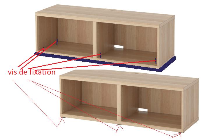 fixation deux meubles ikea forum