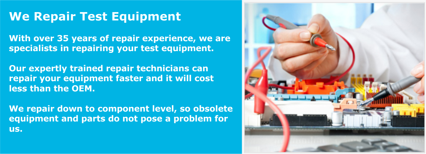 We Repair Test Equipment