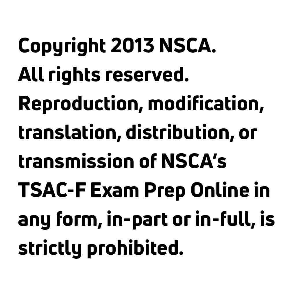 TSAC-F Exam Prep Online
