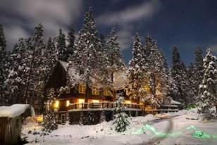 Breitenbush Lodge in the Winter