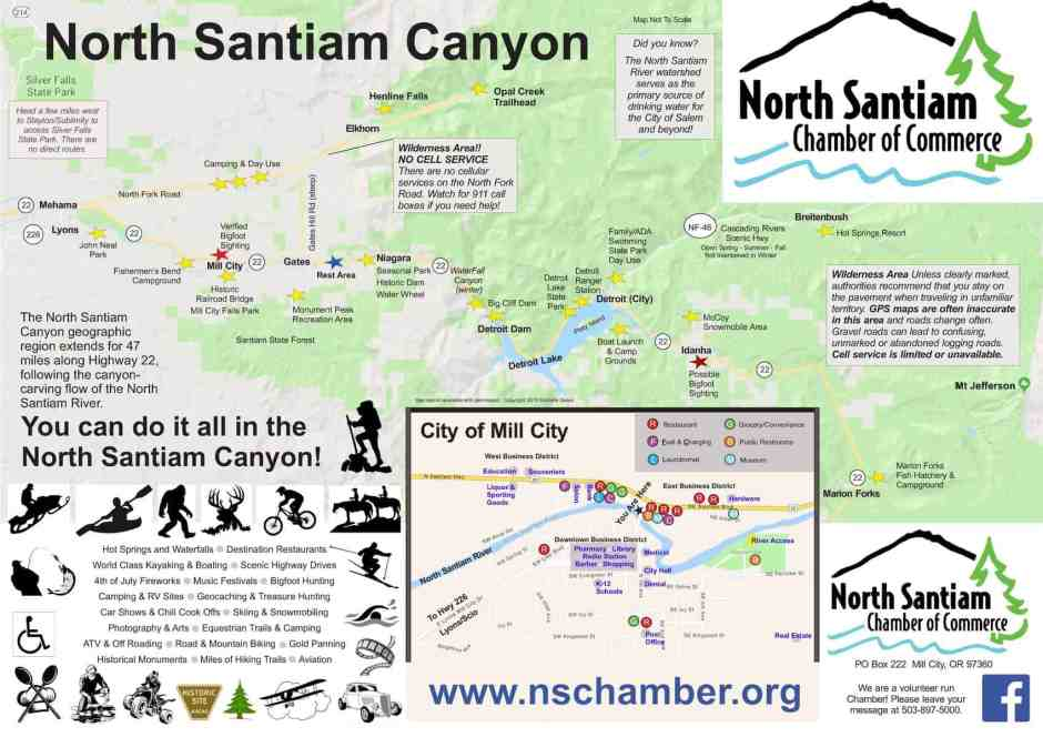 Map of the Santiam Canyon