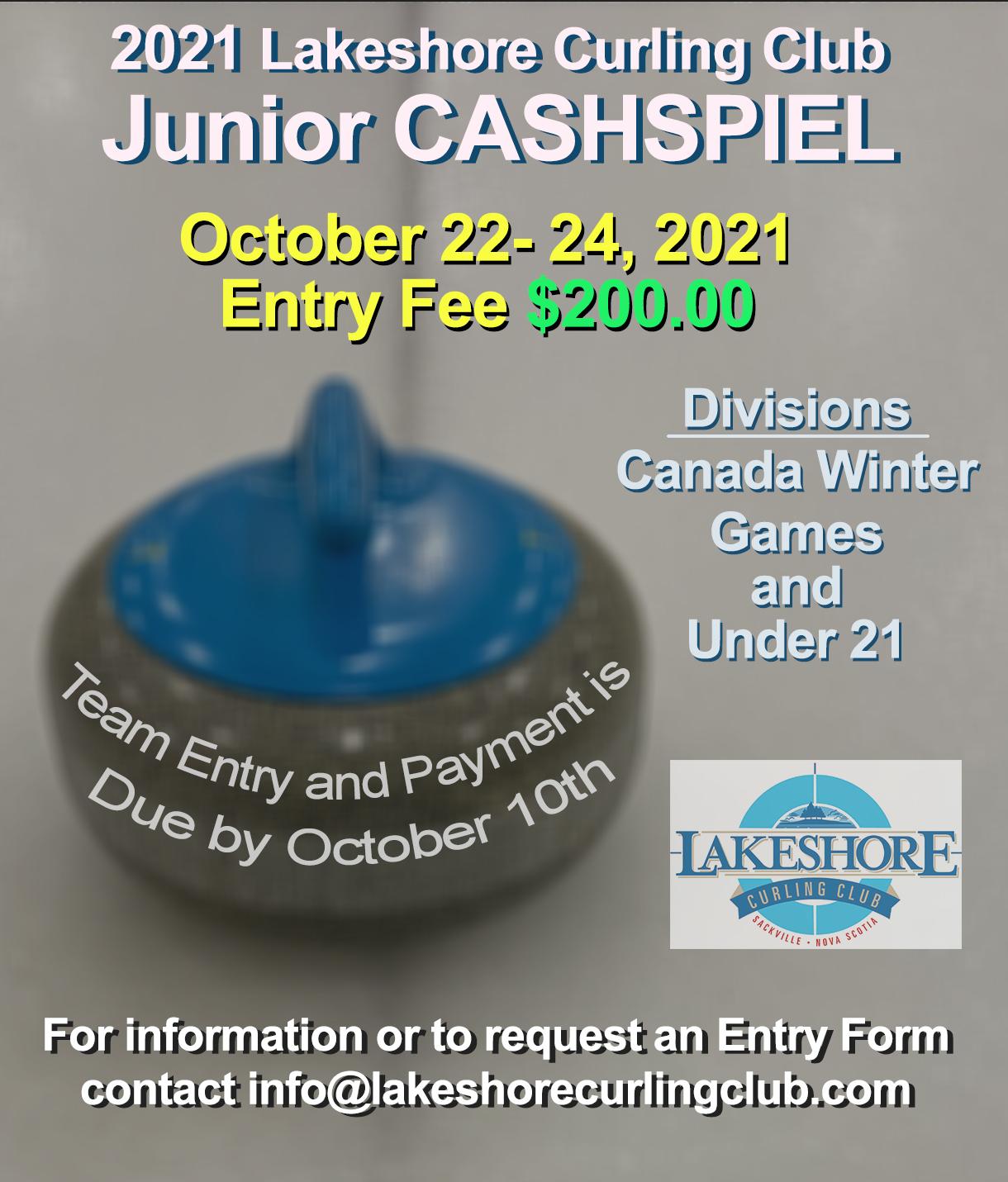 Lakeshore NS Junior Cashspiel @ Lakeshore Curling Club