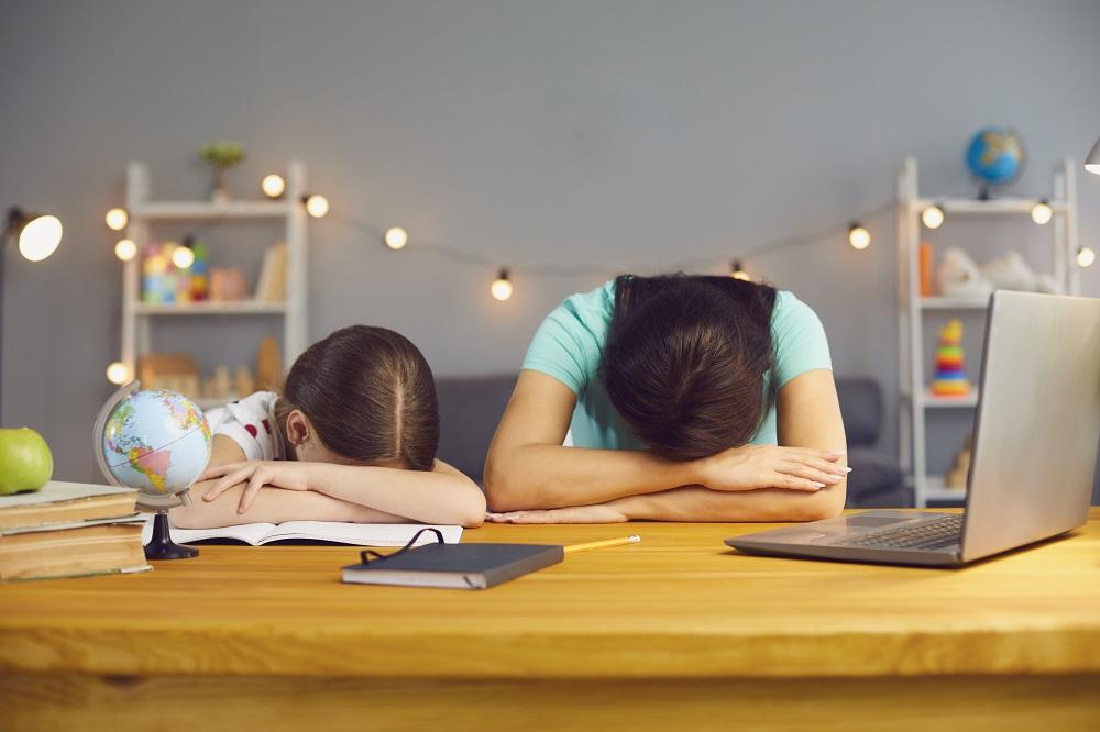 children in front of laptops