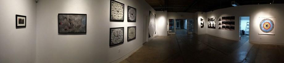 White Circle, Black Square, Silver Pentagon (panorama of exhibition)