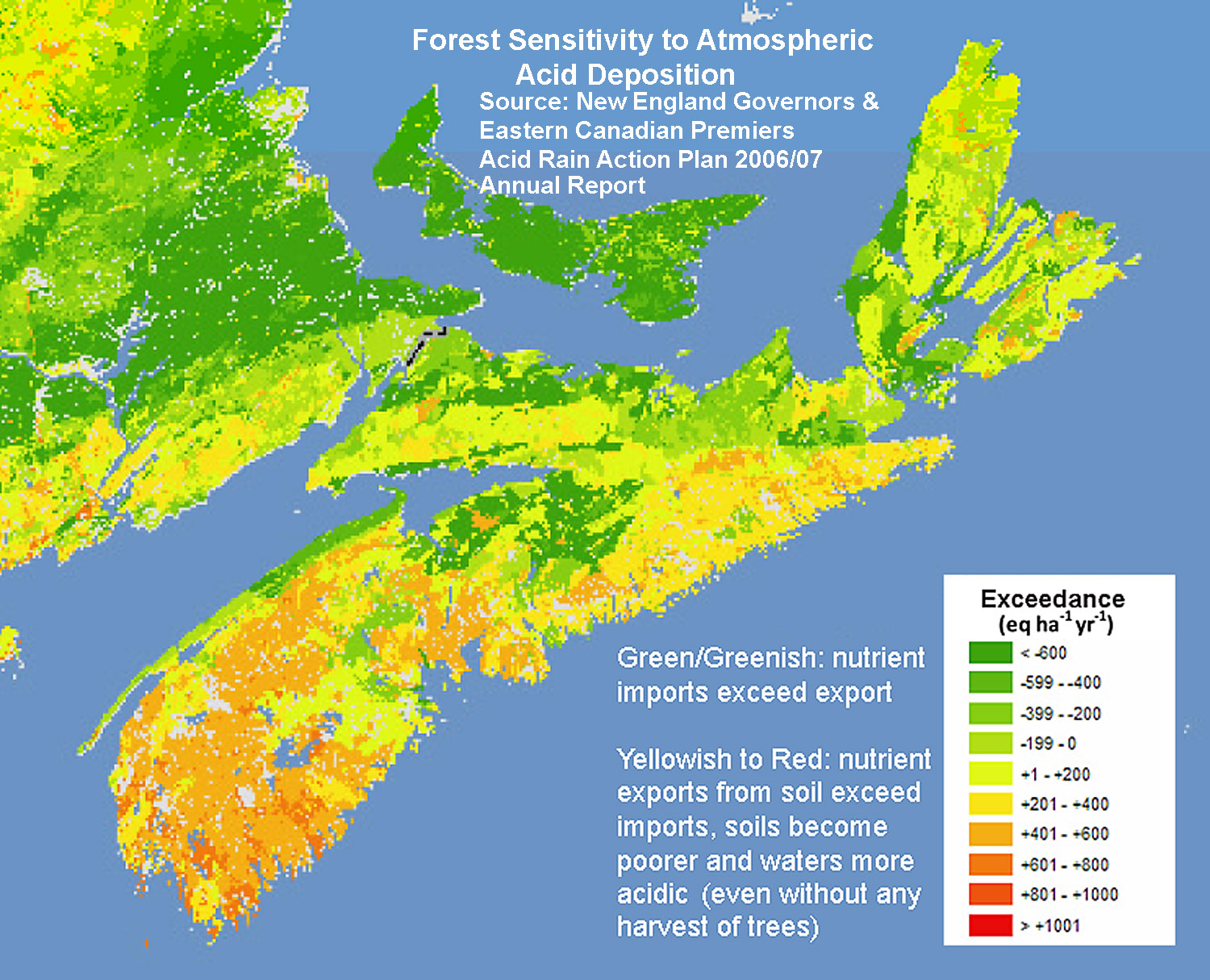 Whats Good For Salmon Is Good For Trees In Nova Scotiaand V - Us soil buffering capacity limestone map