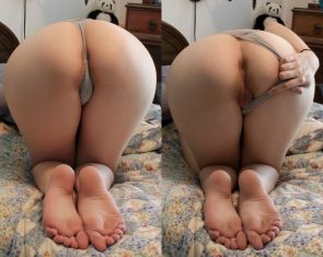 pulled aside to show you the ass