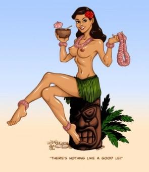 Colored- T.Catt Hula Girl by Oni