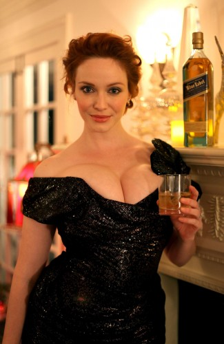 christina hendricks - boobs and liquor 1