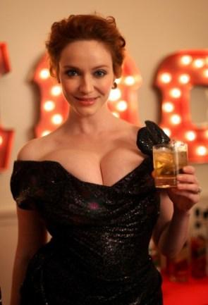 christina hendricks – boobs and liquor 3