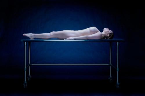 metal table nude