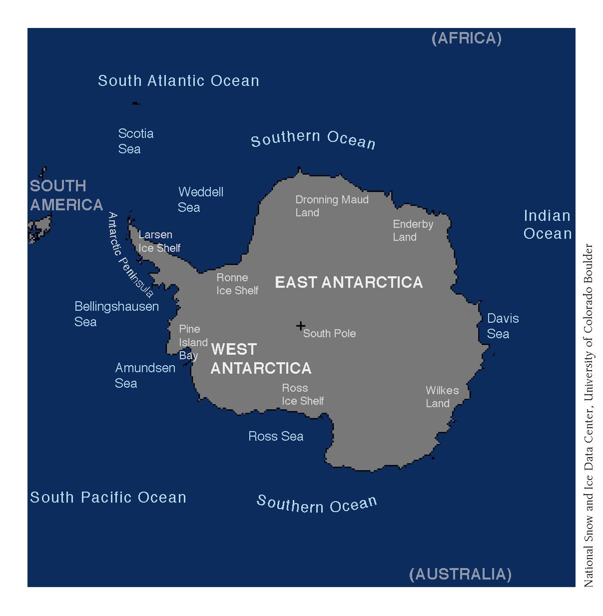 Antarctic Sea Ice At The Minimum Extent