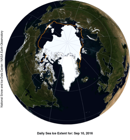 Arctic sea ice concentration