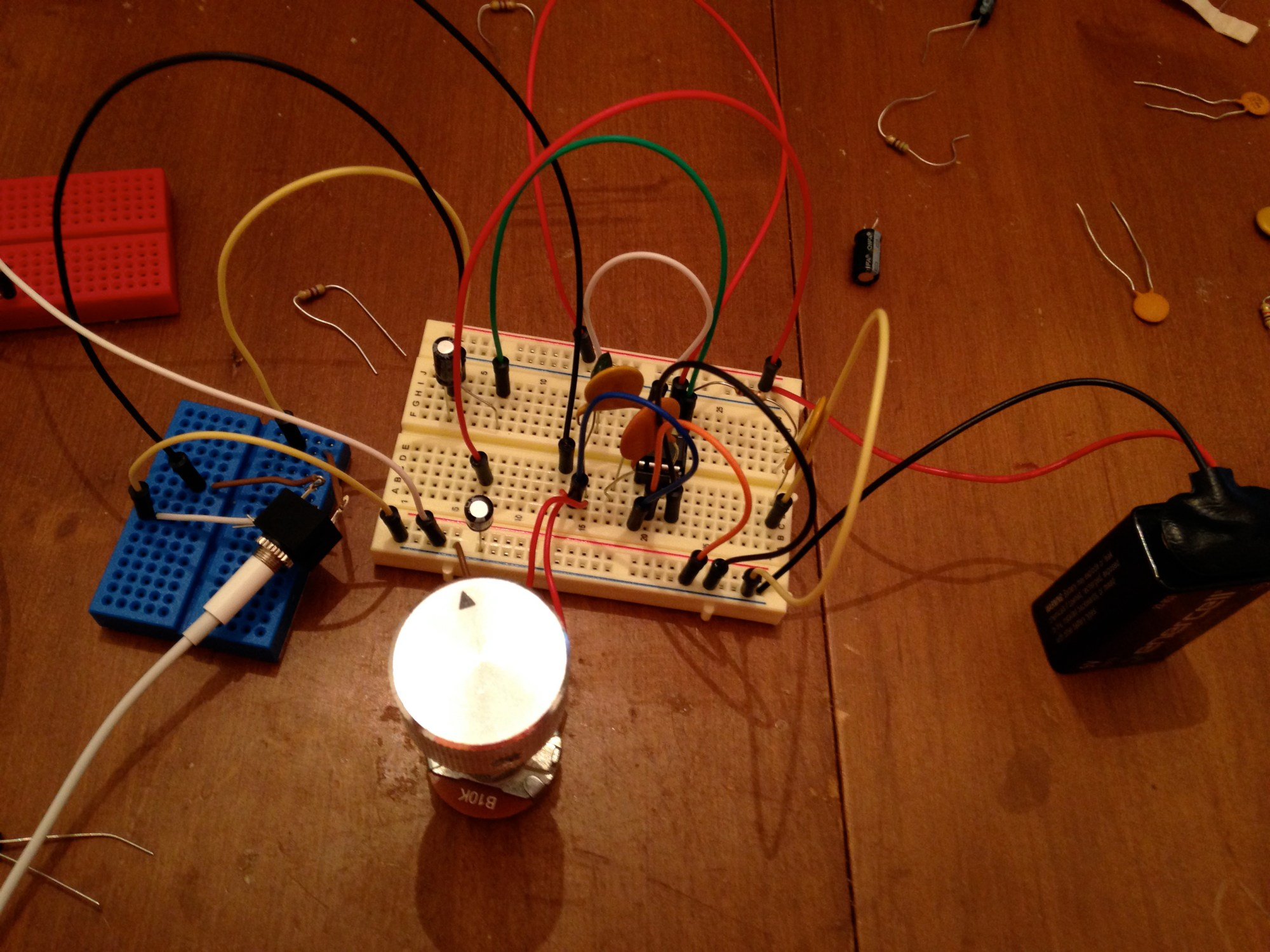 hight resolution of here s my prototype on a breadboard
