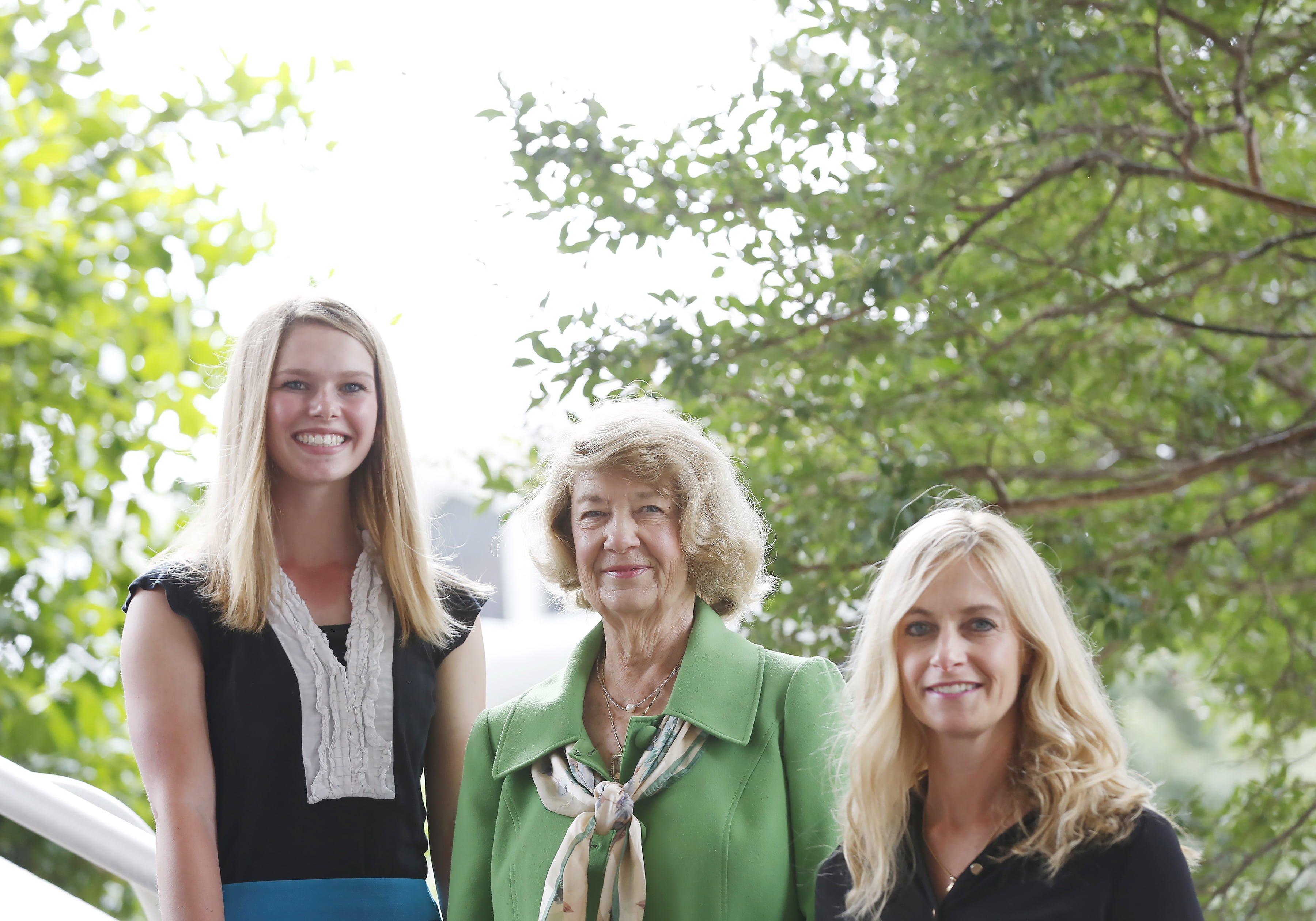 Three generations of women in the legislature from left: Amanda Spence