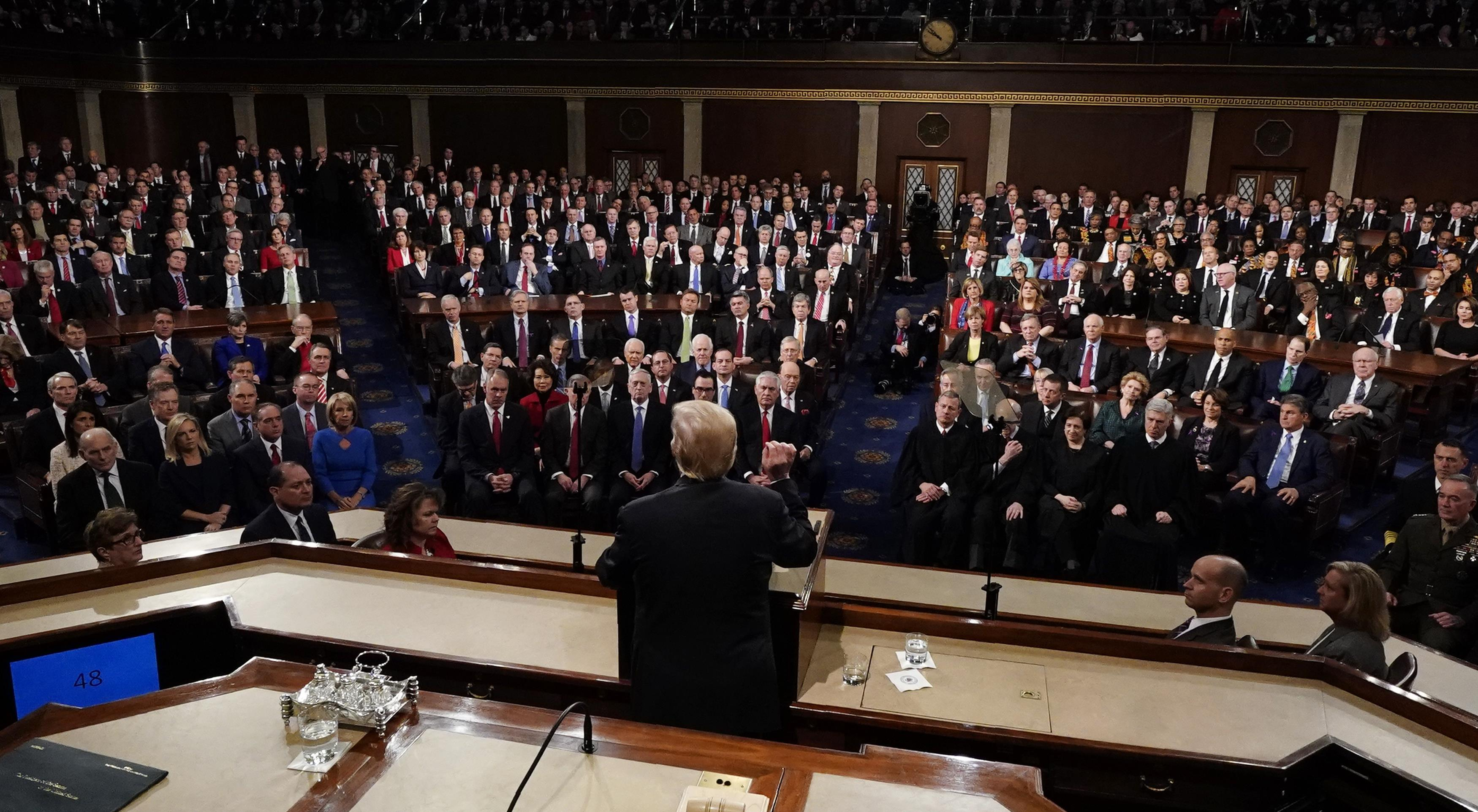 President Trump delivers his State of the Union address in Washington