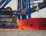 Two $33.5 million cranes are installed at the Port of Wilmington. March 29, 2018 Wilmington, N.C. Source: N.C. Port Authority