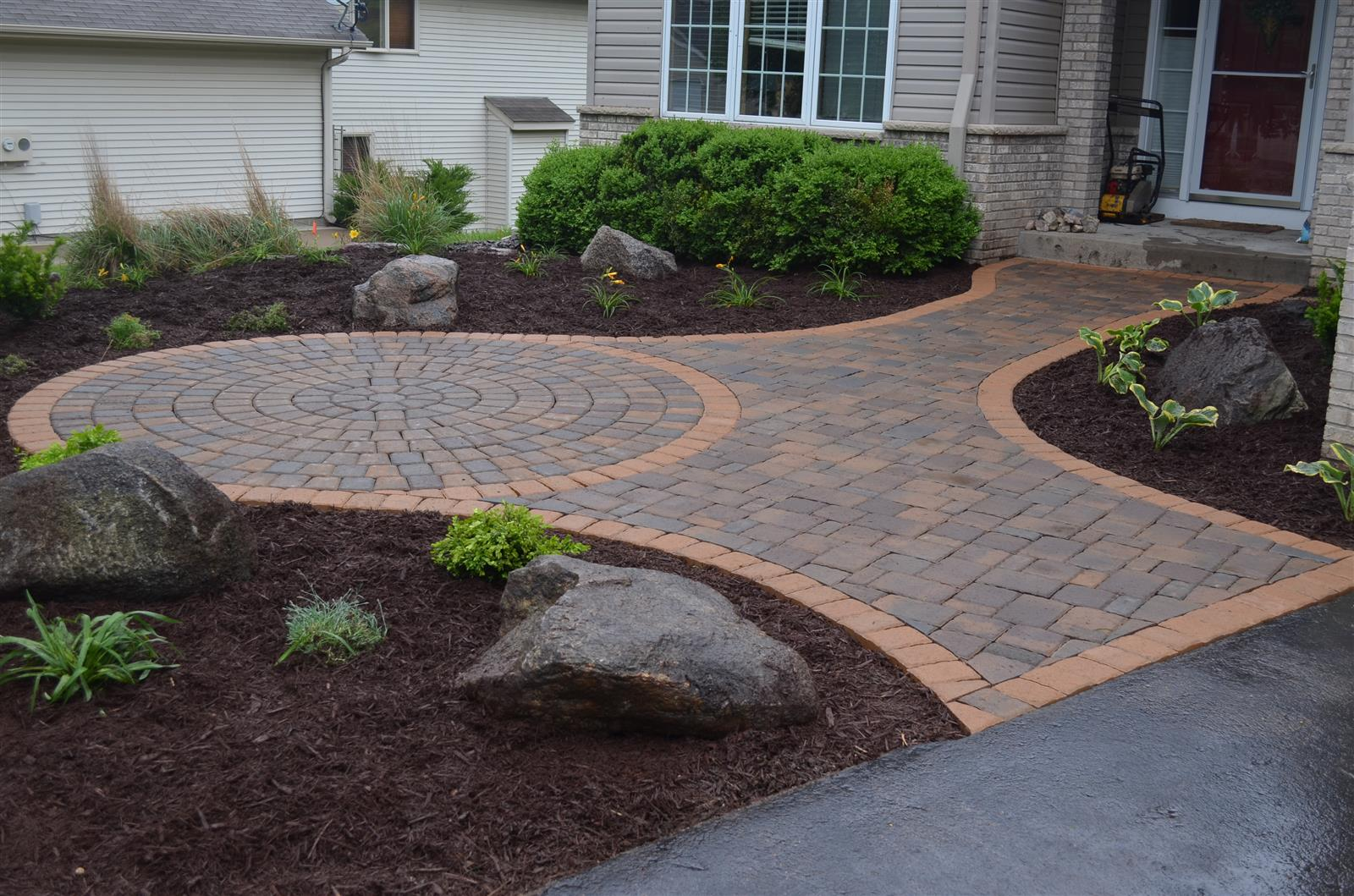 Burnsville Front Entry Patio  NS Landscapes