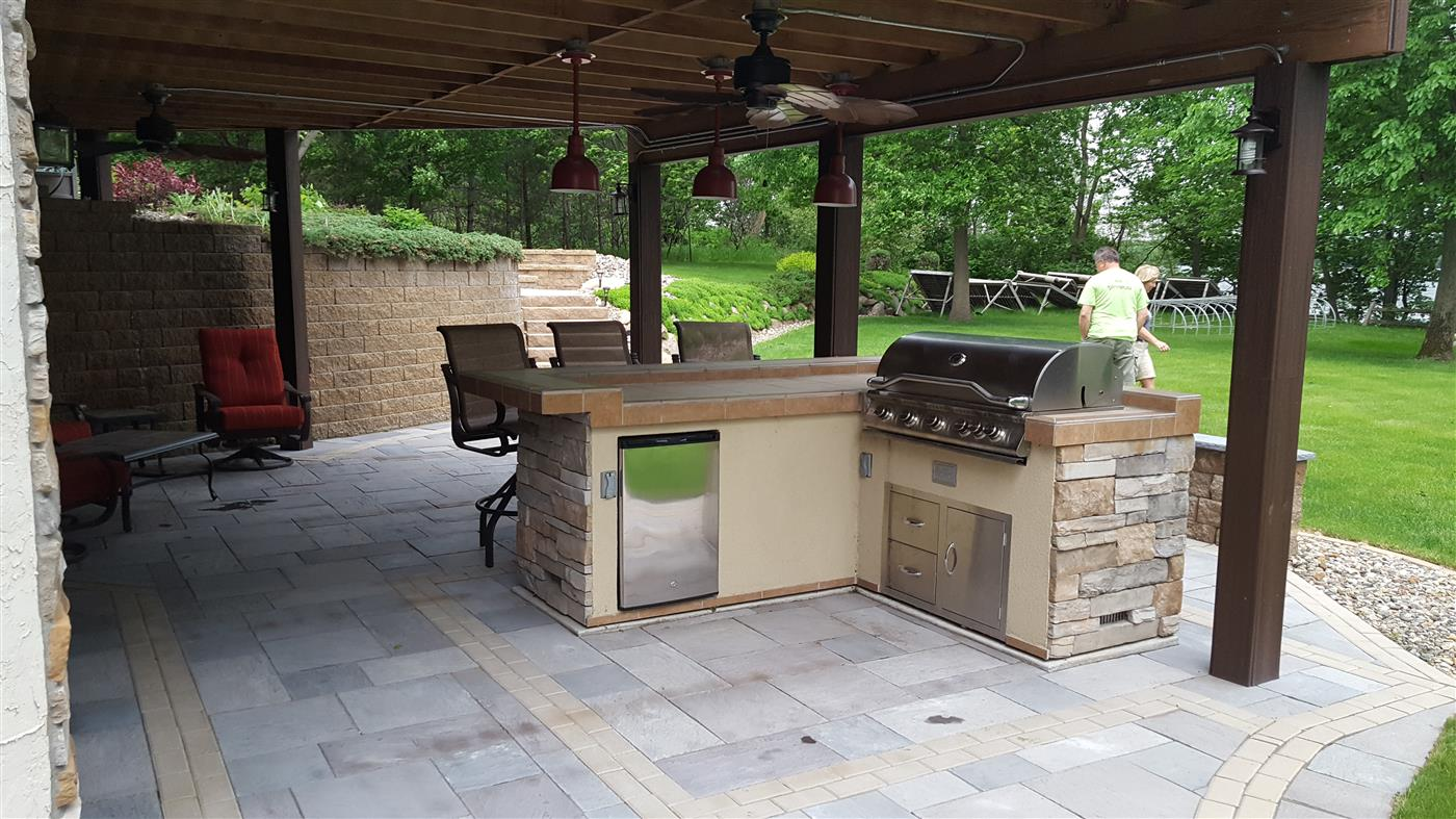 outdoor kitchen design india pictures cannon lake firepit patio ns landscapes slate paver with