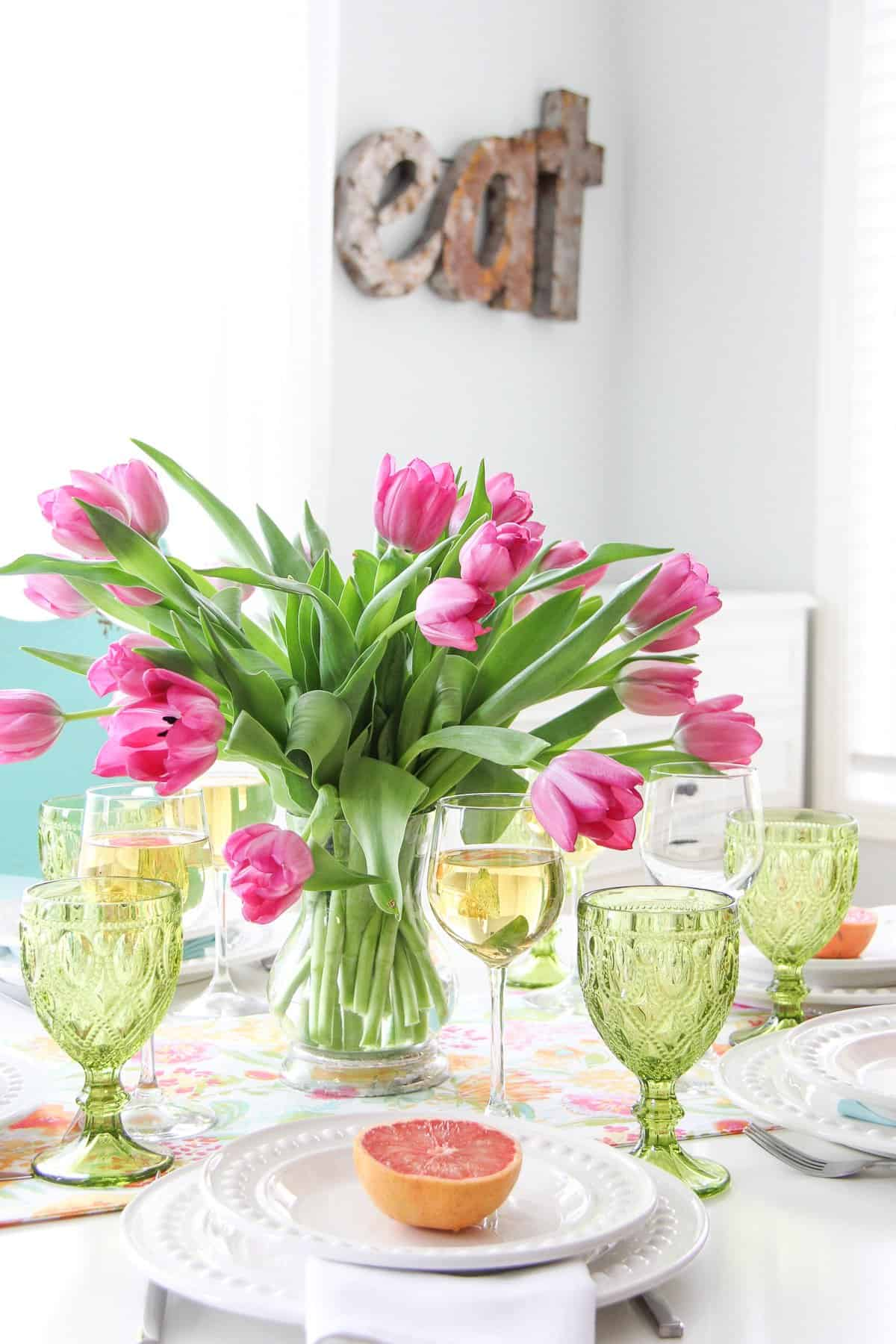 Mothers Day Brunch Table Setting 10