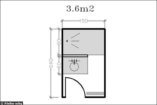 16 Plans De Salle De Bains De Moins De 5 M2