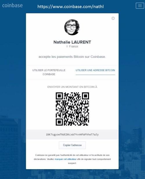 Coinbase - page personnalisée