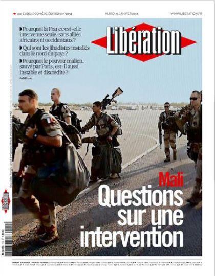 Libération Mardi 15 janvier 2013
