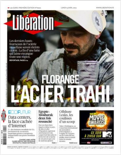 Libération Lundi 15 avril 2013