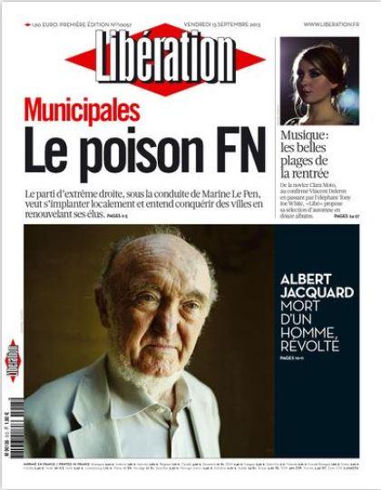 Libération Vendredi 13 Septembre 2013