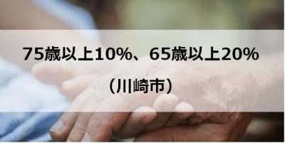 75歳以上10%、65歳以上20%(川崎市)