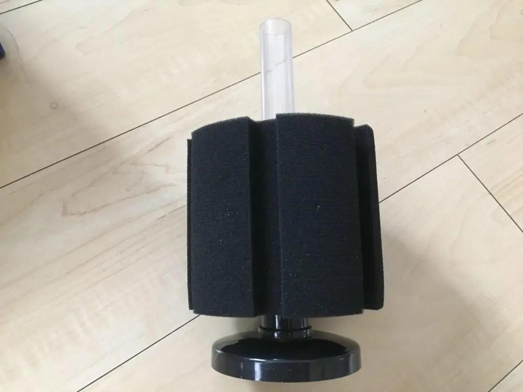 レッドビーシュリンプ水槽用にLSSスポンジフィルターを改造!! エアストーン設置